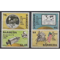 Barbuda - 1980 - Nb 465/468 - Space