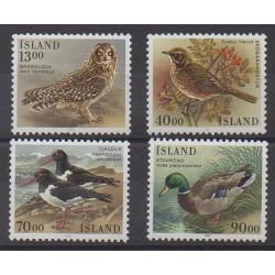 Iceland - 1987 - Nb 621/624 - Birds