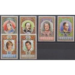 Belize - 1984 - No 690/695 - Royauté - Principauté