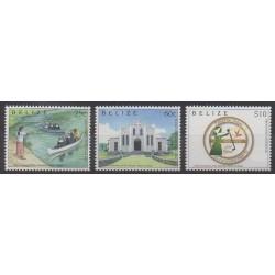 Belize - 2013 - Nb 1235/1237 - Churches