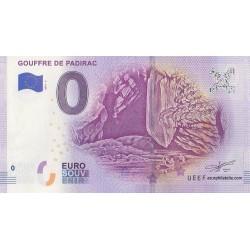 Euro banknote memory - 46 - Gouffre de Padirac - 2019-2
