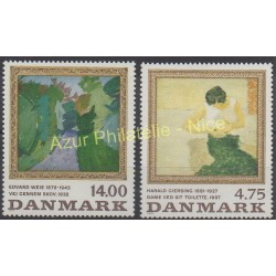 Denmark - 1991 - Nb 1019/1020 - Painting