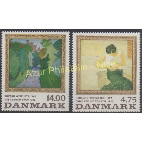 Denmark - 1991 - Nb 1019/1020 - Painting