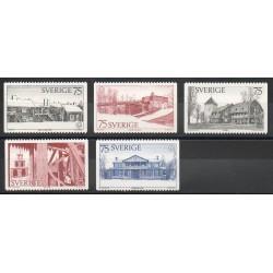 Suède - 1975- No 887/891 - Europe