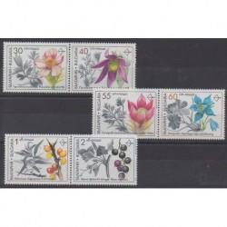 Bulgaria - 1991 - Nb 3418/3423 - Flowers - Fruits or vegetables