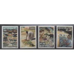 Botswana - 1998 - No 812/815 - Artisanat ou métiers
