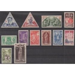Monaco - 1951 - Nb 353/364 - Religion