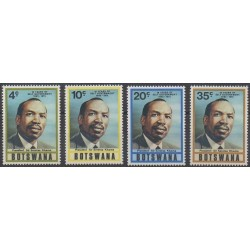 Botswana - 1975 - Nb 284/287 - Celebrities