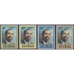 Botswana - 1975 - No 284/287 - Célébrités