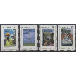 Botswana - 1990 - Nb 619/622 - Telecommunications - Philately