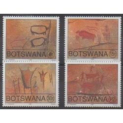 Botswana - 1991 - No 637/640 - Peinture