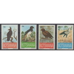 Botswana - 1993 - Nb 701/704 - Birds - Endangered species - WWF