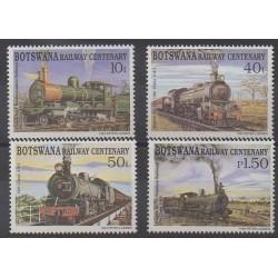 Botswana - 1993 - No 697/700 - Chemins de fer