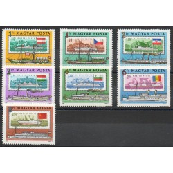 Hungary - 1981- Nb 2776/2782 - Boats - Stamps on stamps