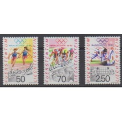 Liechtenstein - 1991 - No 976/978 - Jeux Olympiques d'été