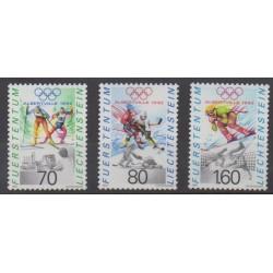Liechtenstein - 1991 - No 971/973 - Jeux olympiques d'hiver