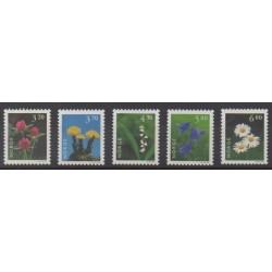 Norvège - 1997 - No 1187/1191 - Fleurs