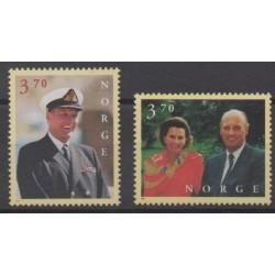 Norvège - 1997 - No 1201/1202 - Royauté - Principauté
