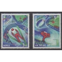 Norvège - 1997 - No 1199/1200 - Sports divers
