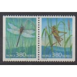 Norvège - 1998 - No 1232/1233 - Insectes