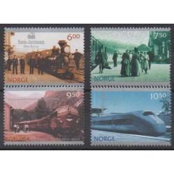 Norvège - 2004 - No 1450/1453 - Chemins de fer