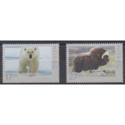 Norvège - 2011 - No 1687/1688 - Mammifères