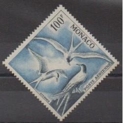 Monaco - Poste aérienne - 1957 - No PA66 - Oiseaux