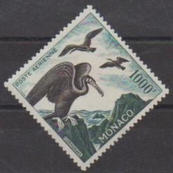 Monaco - Poste aérienne - 1955 - No PA58 - Oiseaux