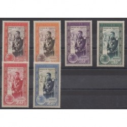 Monaco - 1950 - No 338/343 - Royauté - Principauté