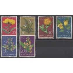Yugoslavia - 1965 - Nb 1013/1018 - Flowers