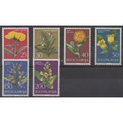 Yougoslavie - 1965 - No 1013/1018 - Fleurs
