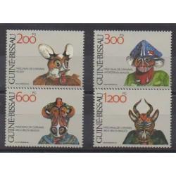 Guinea-Bissau - 1991 - Nb 582/585 - Masks or carnaval