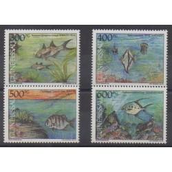 Guinea-Bissau - 1991 - Nb 586/589 - Sea animals