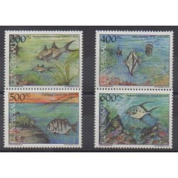 Guinée-Bissau - 1991 - No 586/589 - Animaux marins