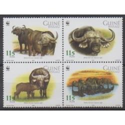 Guinea-Bissau - 2002 - Nb 1032/1035 - Mamals - Endangered species - WWF