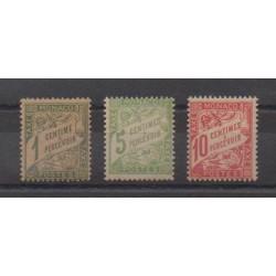 Monaco - Timbres-taxe - 1905 - No T1/T3 GC