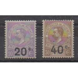 Monaco - Timbres-taxe - 1919 - No T11/T12 - Neufs avec charnière