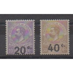 Monaco - Timbres-taxe - 1919 - No T11/T12