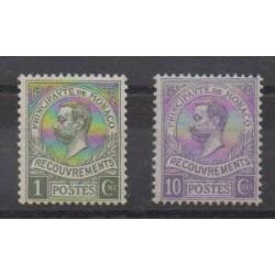 Monaco - Timbres-taxe - 1910 - No T8/T9