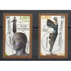 France - Official stamps - 1999- Nb 120/121 - Art