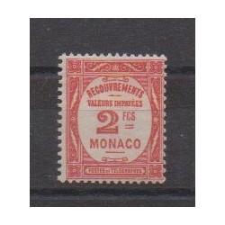 Monaco - Timbres-taxe - 1932 - No T28 - Neuf avec charnière