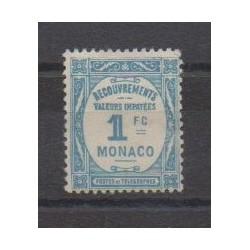 Monaco - Timbres-taxe - 1932 - No T27 - Neuf avec charnière