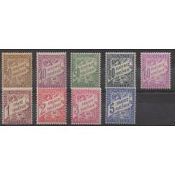 Monaco - Timbres-taxe - 1926 - No T18/T26