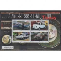 Saint-Pierre et Miquelon - Blocs et feuillets - 2019 - No F1222 - Voitures