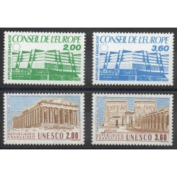 France - Timbres de service - 1987- No 96/99 - Monuments
