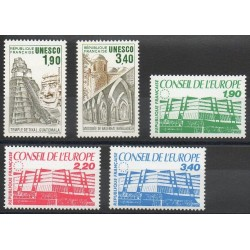 France - Official stamps - 1986 - Nb 91/95
