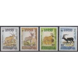 Ethiopia - 1989 - Nb 1255/1258 - Mamals