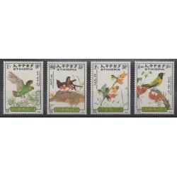 Ethiopia - 1989 - Nb 1246/1249 - Birds