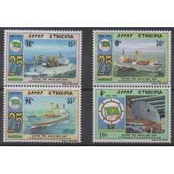Ethiopia - 1989 - Nb 1242/1245 - Boats