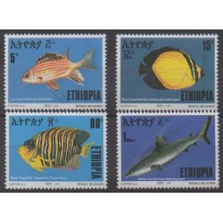 Ethiopia - 1991 - Nb 1316/1319 - Sea animals